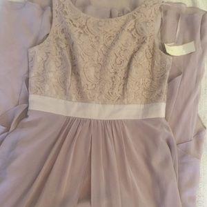Lace canopy beige dress stunning